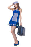Woman travel attendant Stock Image