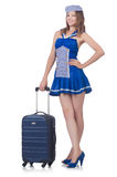 Woman travel attendant Royalty Free Stock Photography