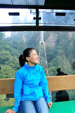 Woman travel in cable car Stock Photo
