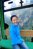 Woman travel in cable car Royalty Free Stock Photography