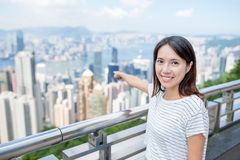 Woman travel in Hong Kong Royalty Free Stock Image