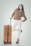 Woman travel Stock Images