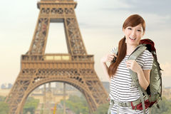Woman travel at Paris Royalty Free Stock Image