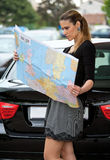 Woman traveler Stock Image