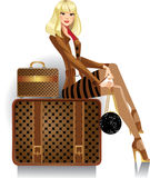 Woman traveler Royalty Free Stock Images