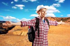 Woman traveler Royalty Free Stock Photo