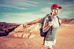Woman traveler Stock Photo