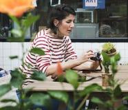 Woman traveler holiday lifestyle enjoyment Stock Photos