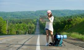 Woman traveler royalty free stock photos