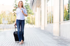 Woman traveling Stock Photo