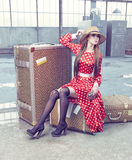 Woman traveling Royalty Free Stock Image
