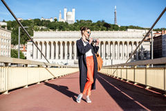 Free Woman Traveling In Lyon Royalty Free Stock Image - 95441486