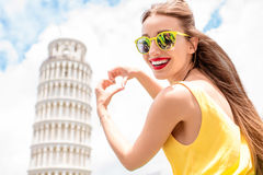 Woman traveling in Pisa old town Royalty Free Stock Photography