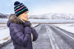 Woman traveling to Iceland Royalty Free Stock Photo