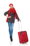 Woman traveller Stock Photo