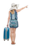 Woman travelling. On summer vacation Royalty Free Stock Photos