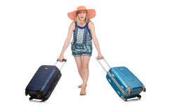 Woman travelling on summer Royalty Free Stock Photography