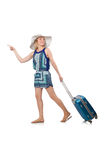 Woman travelling on summer. Vacation Royalty Free Stock Photos