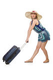Woman travelling Stock Photo