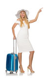 Woman travelling on summer. Vacation Royalty Free Stock Photo