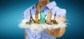Woman travelling the world Royalty Free Stock Images