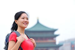 Woman travller in xian Royalty Free Stock Photography