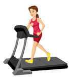 Woman On A Treadmill Stock Photo