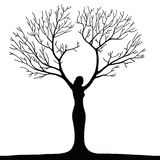 Woman tree Stock Image