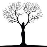 Woman tree Stock Image