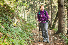 Woman Trekking by Summer Stock Photos