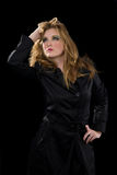 Woman in trench coat Royalty Free Stock Photography