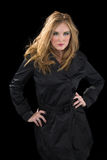 Woman in trench coat Stock Photography