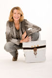 Woman with trendy bags Stock Photo