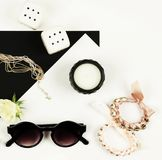 Woman trendy fashion accessories royalty free stock images