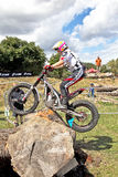 Woman trials rider Stock Images