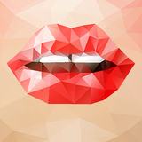 Woman triangle lips Stock Photo
