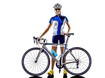 Woman triathlon ironman athlete cyclist cycling Royalty Free Stock Photo