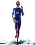 Woman triathlon ironman swimmers athlete Royalty Free Stock Image