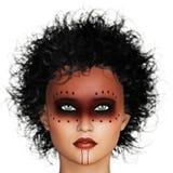 Woman with tribal makeup Stock Photography