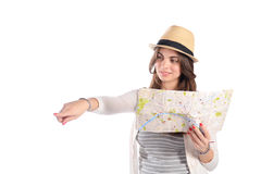 Woman on a trip. Stock Photo