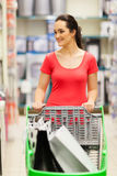 Woman trolley supermarket Stock Photography