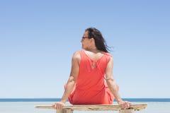 Woman tropical beach holiday vacation Royalty Free Stock Image