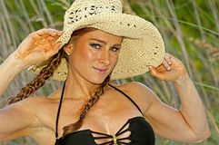 Woman  on a Tropical Beach Royalty Free Stock Photo