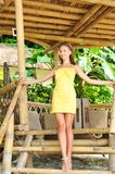 Woman at tropical resort Royalty Free Stock Photography