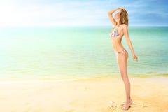 Woman at tropical sea Stock Photo