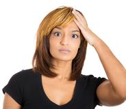 Woman trying to remember something Stock Photography