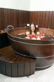 Woman in Tub - Vertical Royalty Free Stock Photography