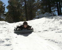A Woman Tubing Royalty Free Stock Images