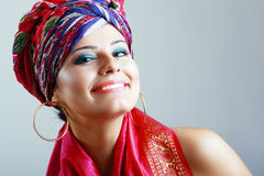 Woman in turban Royalty Free Stock Images