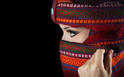 Woman in turban Royalty Free Stock Image
